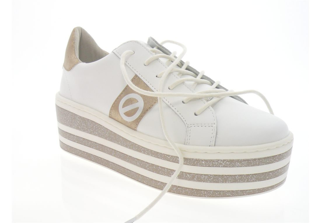 no name - Tennis BOOST SNEAKER - BLANC OR