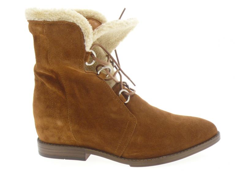 aliwell - Boots ANOUK - DAIM CAMEL