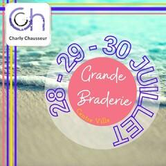 Toute l'équipe Charly Chausseur, vous attend les 28, 29 et 30 Juillet pour la Grande Braderie du Centre Ville de Béziers. 👡🥿  Venez découvrir les Tops de la saison chez Charly !!  #béziers #centreville #braderie #282930juillet #chaussures #été #summer #chaleur #plage