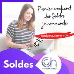 C'est le 1er weekend des Soldes Charly Chausseur, on vous attend en magasin et sur https://www.charlychaussures.com/  Des prix fous, jusqu'à -50 %.😉